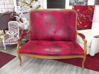 Denis launay tapisserie d coration fauteuil chaise clous bronze - Tissus imitation cuir vieilli ...